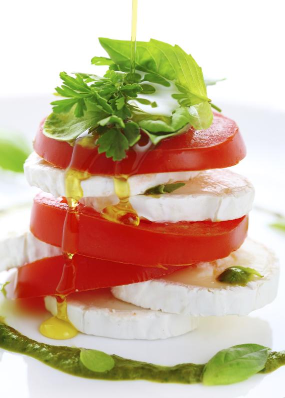 receta con tomates, queso y aceite de oliva borges