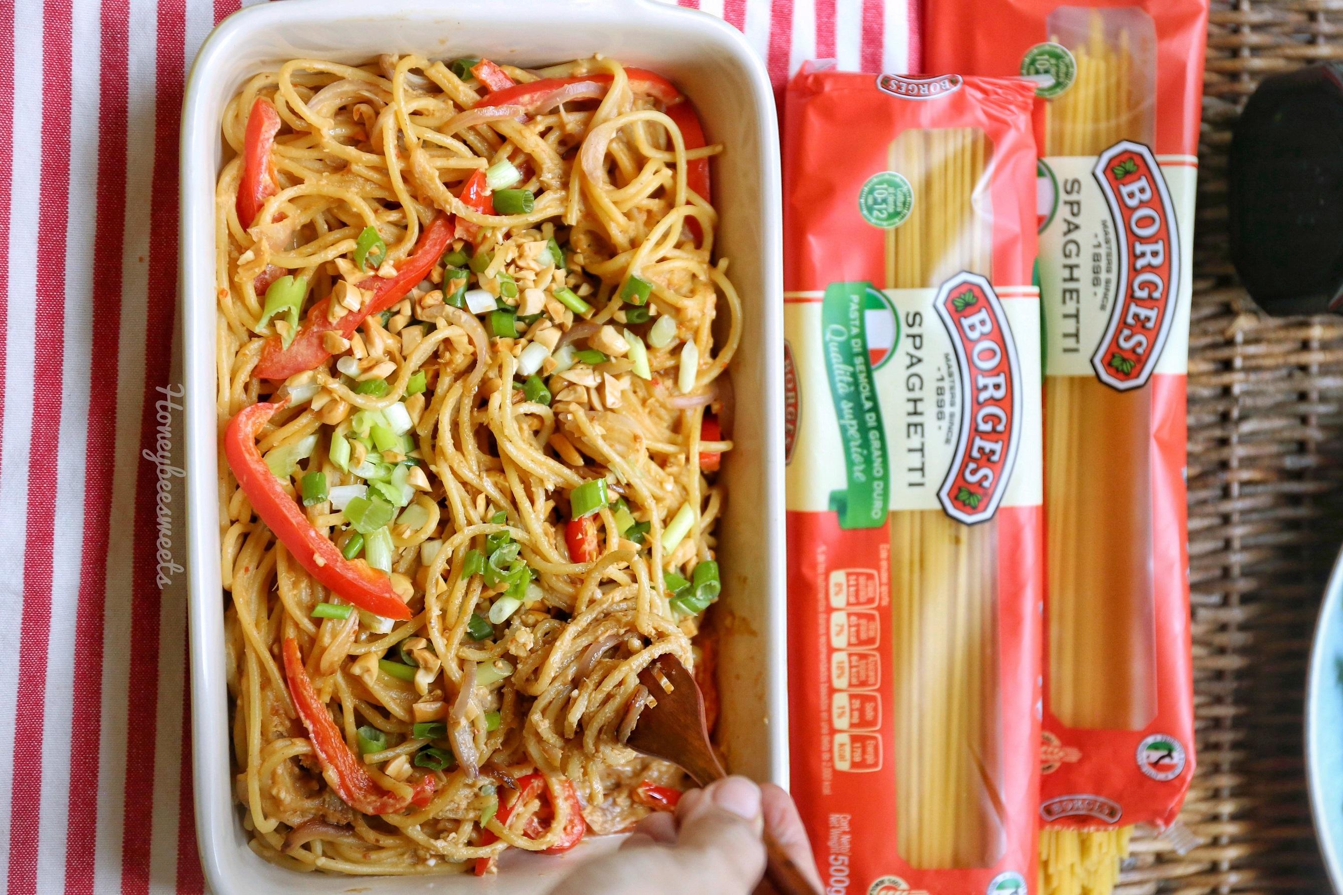 Spicy Peanut Sauce Noodles Recipe