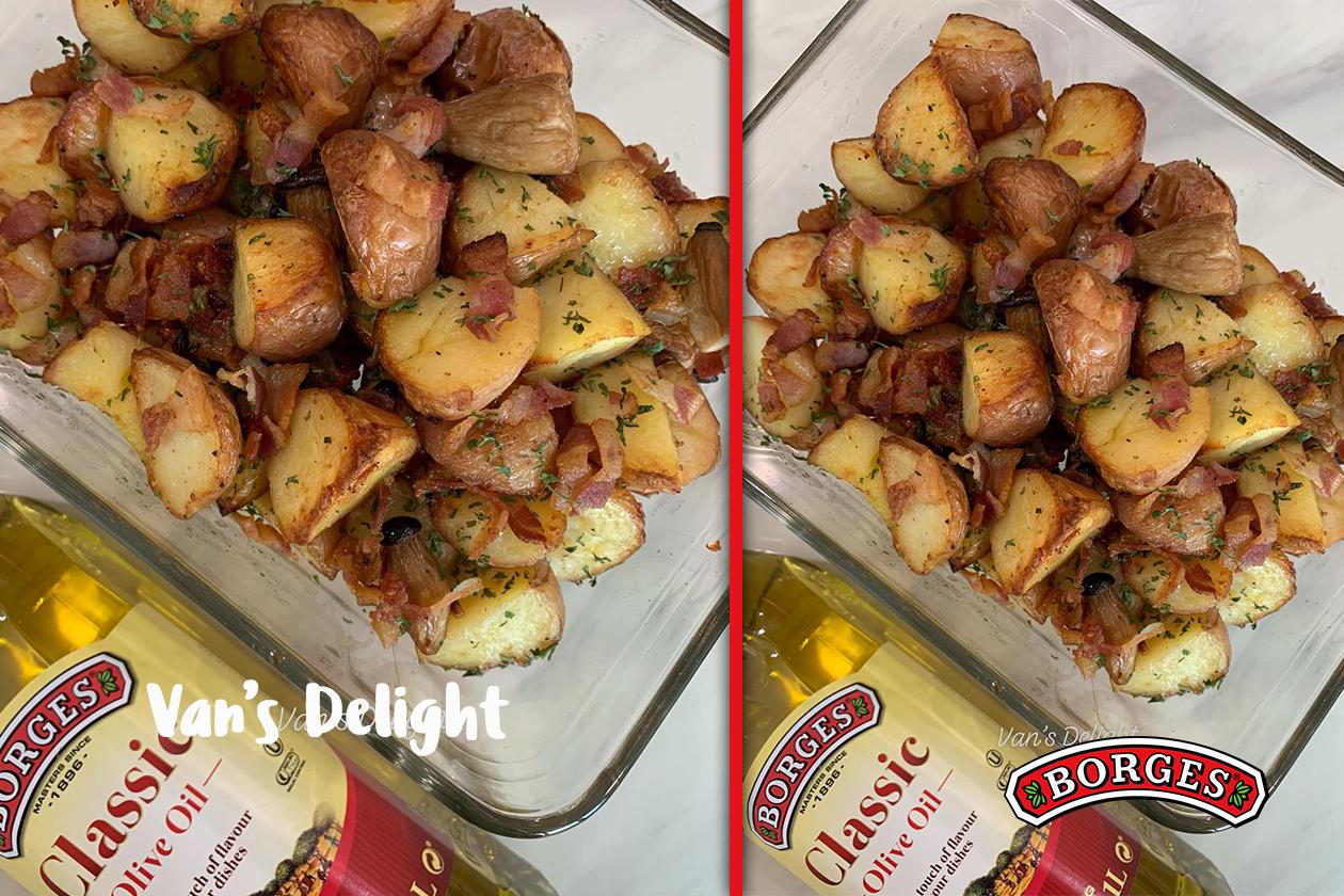 Easy Oven Roasted Bacon Potatoes