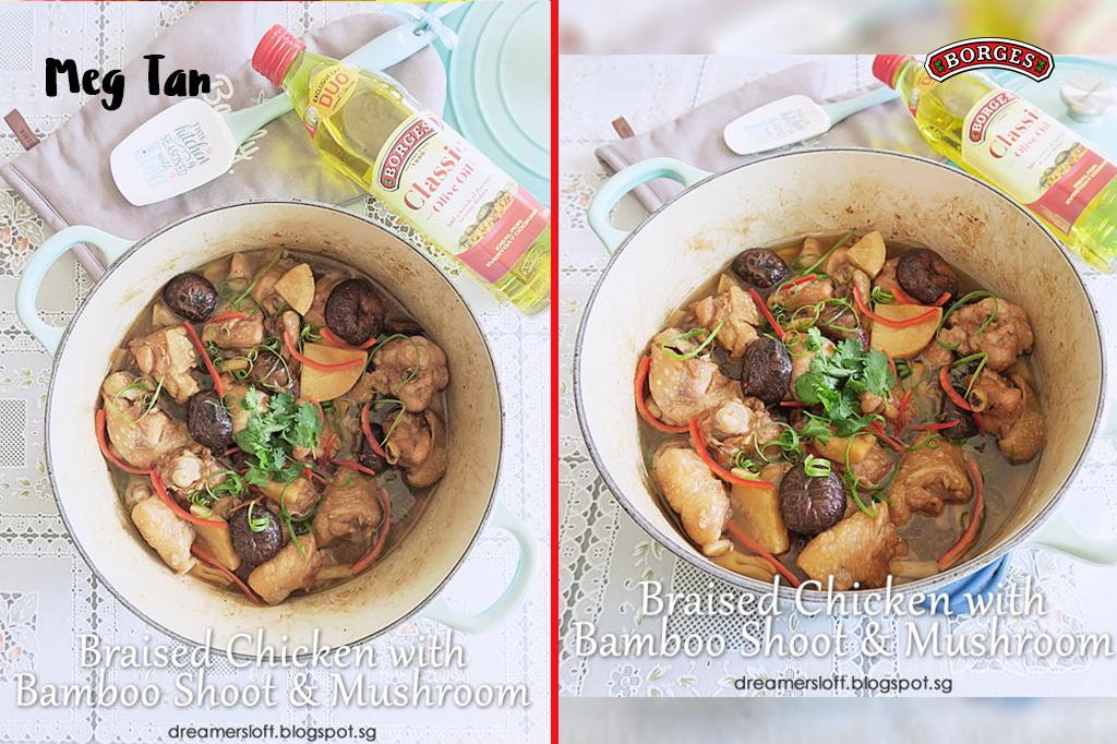 Braised Chicken with Bamboo Shoot & Mushroom